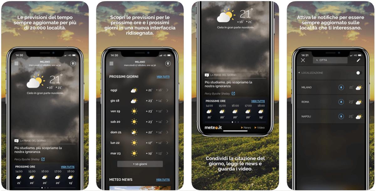 Meteo.it, la tua app meteo gratuita preferita