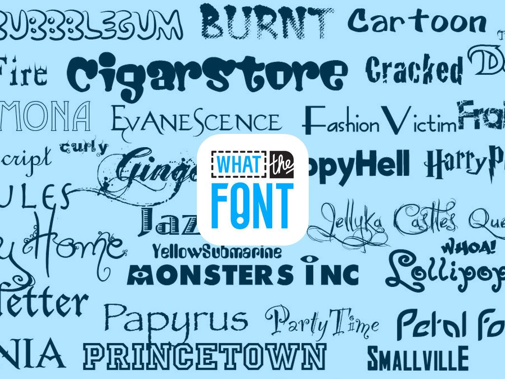 WhatTheFont, l'app per riconoscere i font da una foto