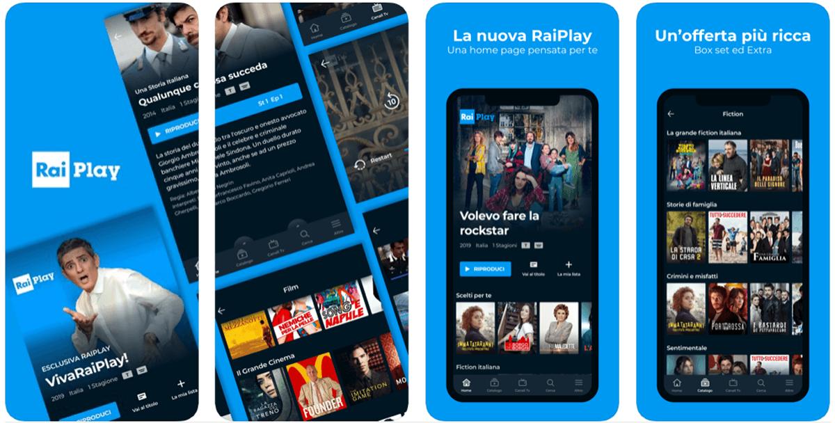 RaiPlay, l'app per rivedere i programmi Rai