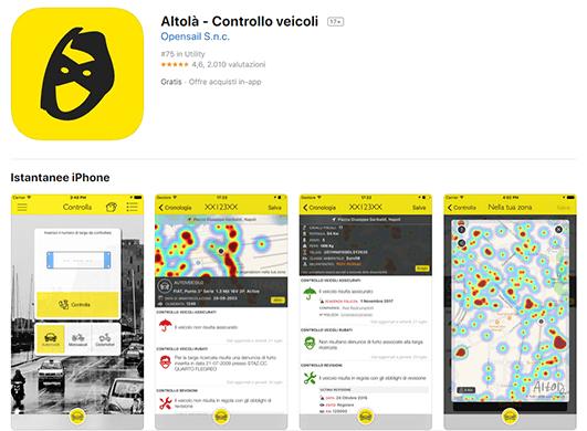 Altolà - Controllo veicoli, cos'è e come funziona l'app gratuita per iOS