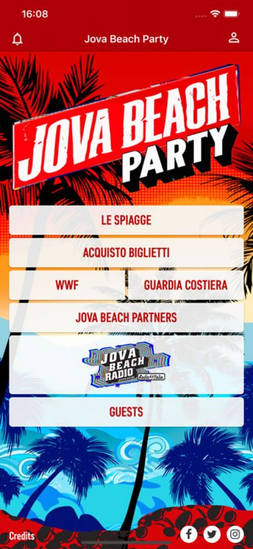 L'app guida del Jova Beach Party