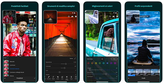 Lightroom for mobile, l'app di photo editing professionale