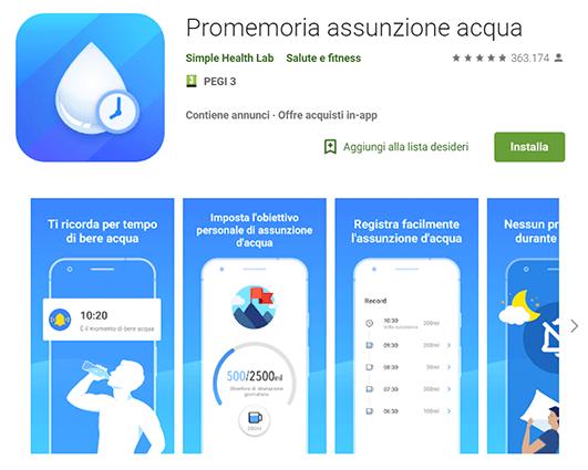 Promemoria assunzione acqua: perché bere acqua fa bene