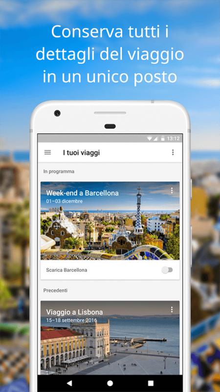 Tutti i dettagli del tuo viaggio in un'unica app