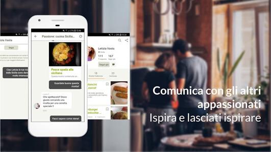 Cookpad, comunica con gli altri utenti