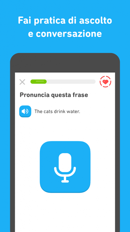 Duolinguo, allena pronuncia