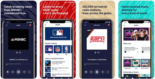 TuneIn Radio, app per ascoltare musica e non solo