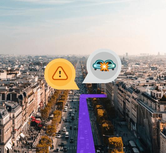 Waze, monitora la presenza di pericoli o incidenti