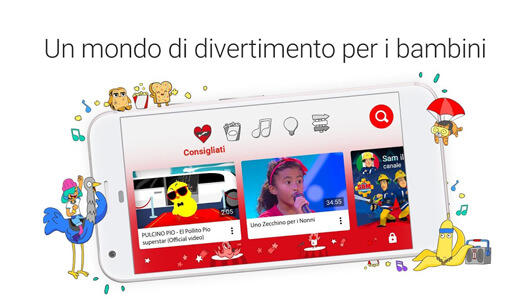 YouTube Kids, piattaforma di video sharing per bambini