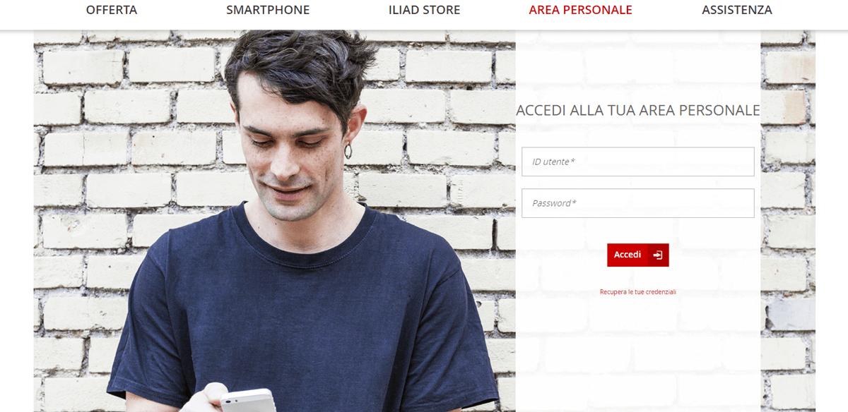 Iliad, il sito web funge da applicazione ufficiale