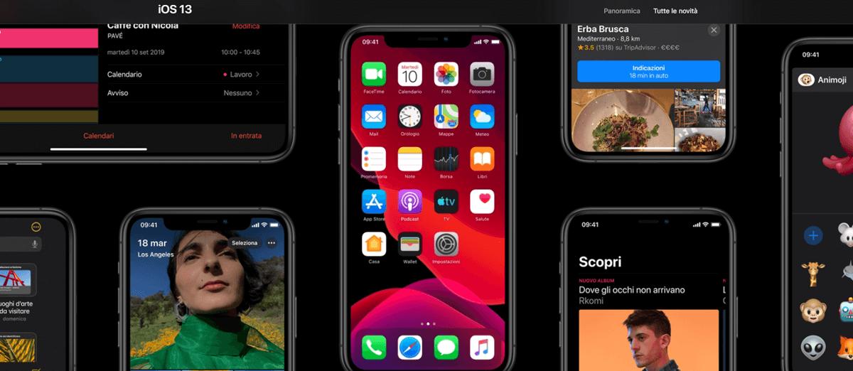iOS 13, modalità scura