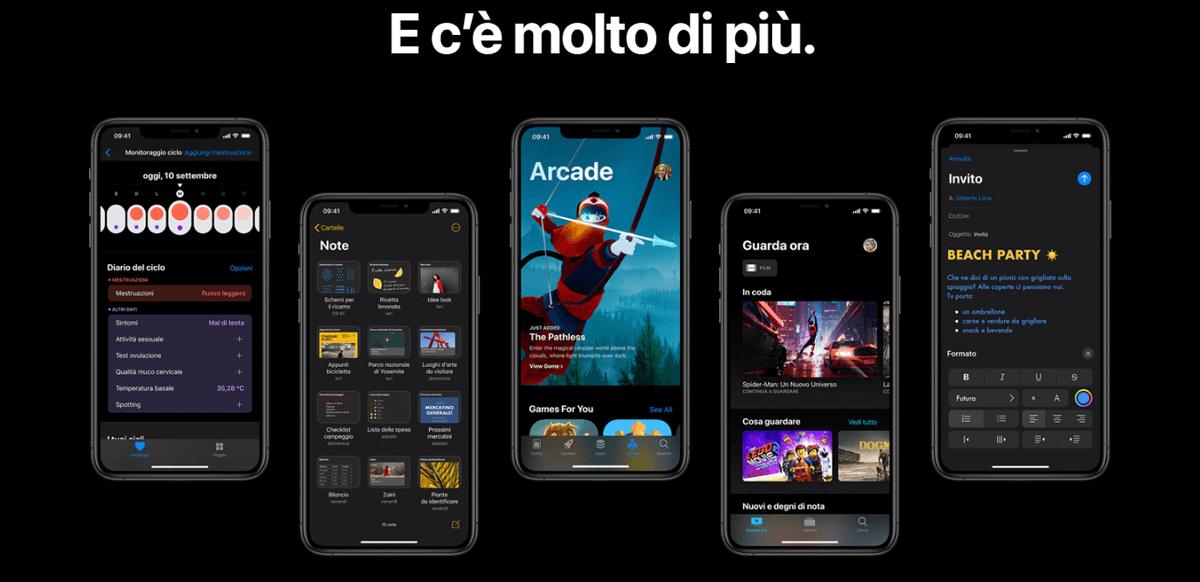 iOS 13, altre novità