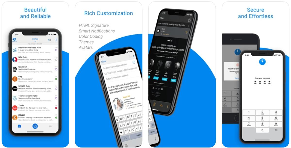 TypeApp, come funziona l'app e-mail
