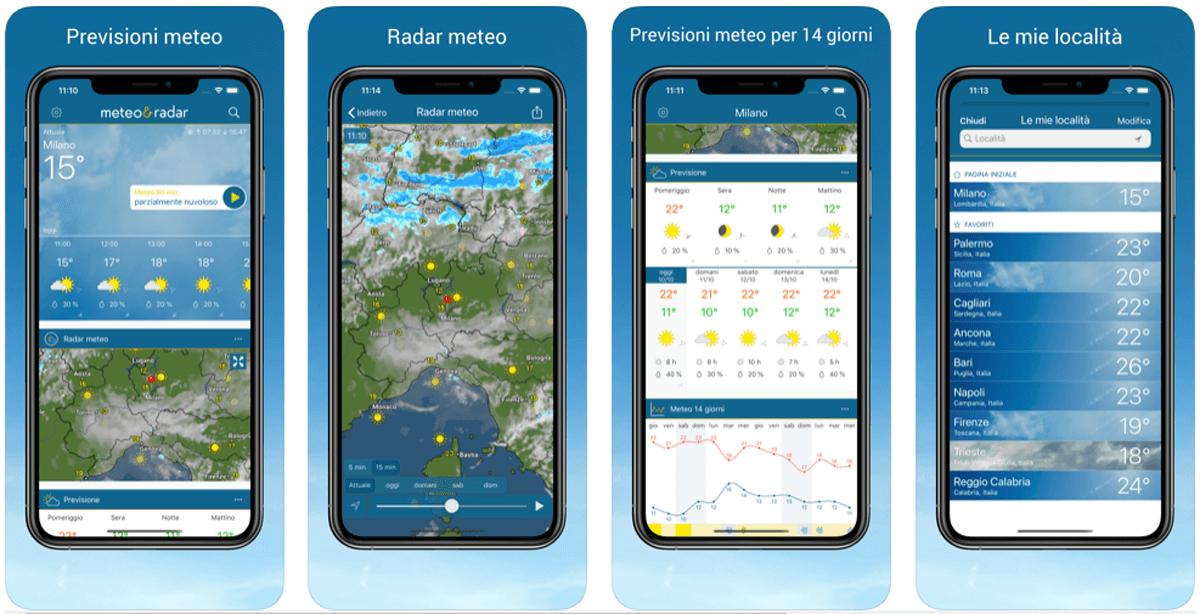 Meteo & Radar, app meteo accurata e affidabile