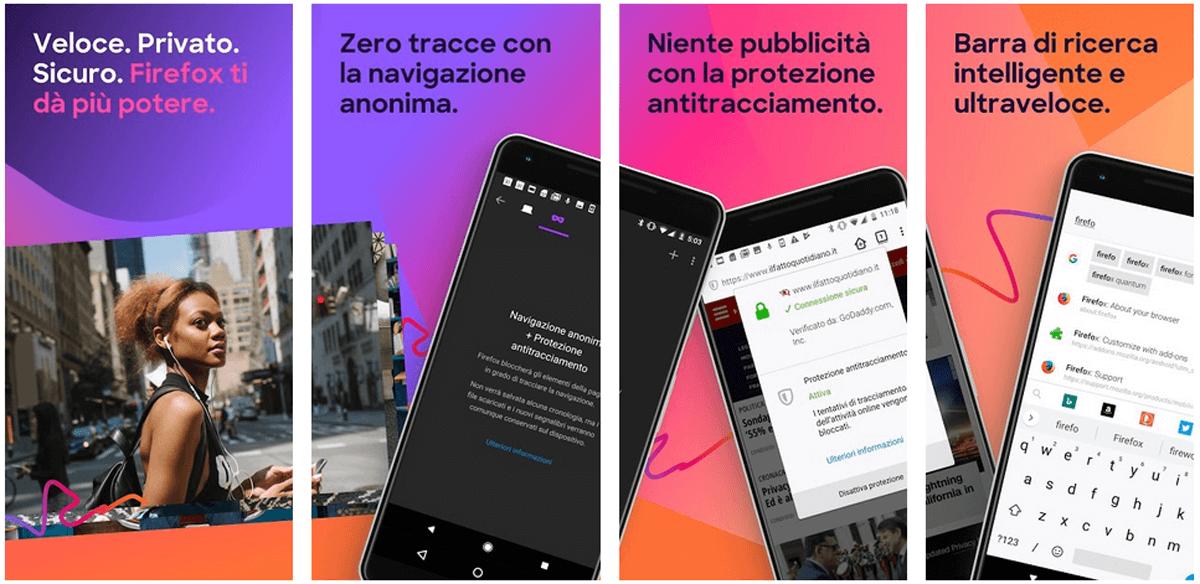 Mozilla Firex, l'app per fare ricerche in rete in modo veloce, sicuro e personalizzato
