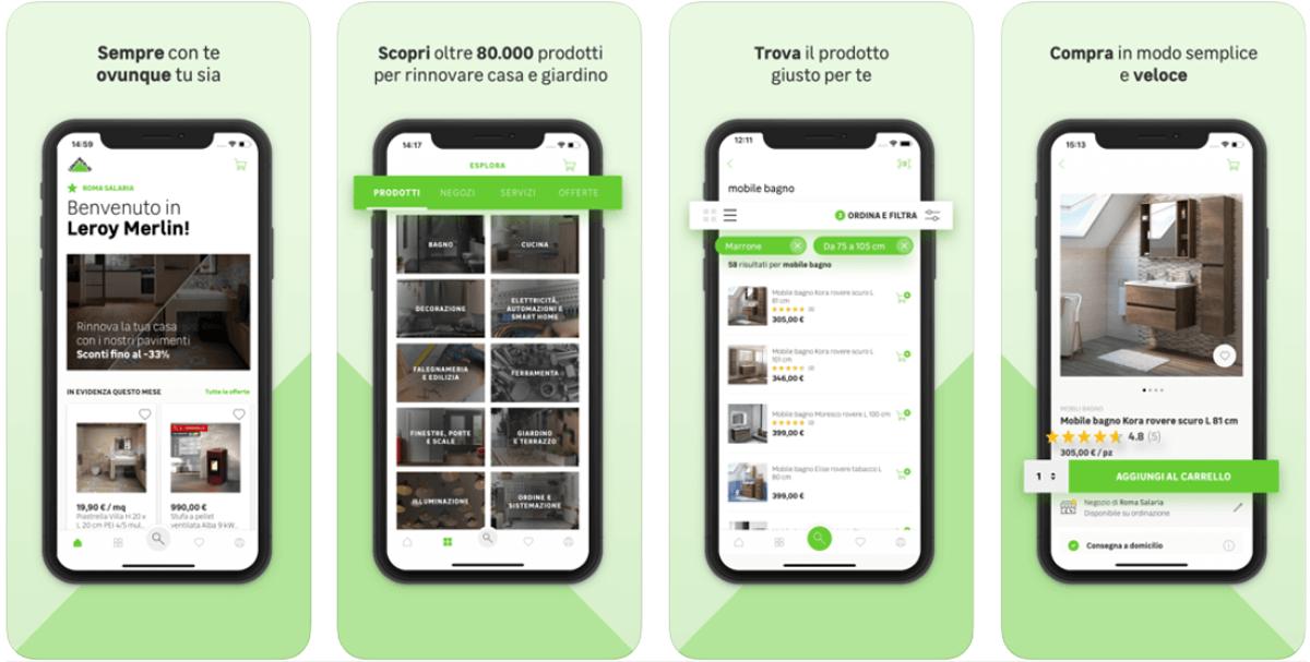 Leroy Merlin, come funziona l'app per comprare mobili dall'azienda omonima