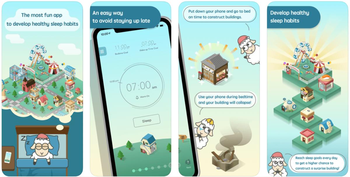 SleepTown, come funziona l'app per il sonno