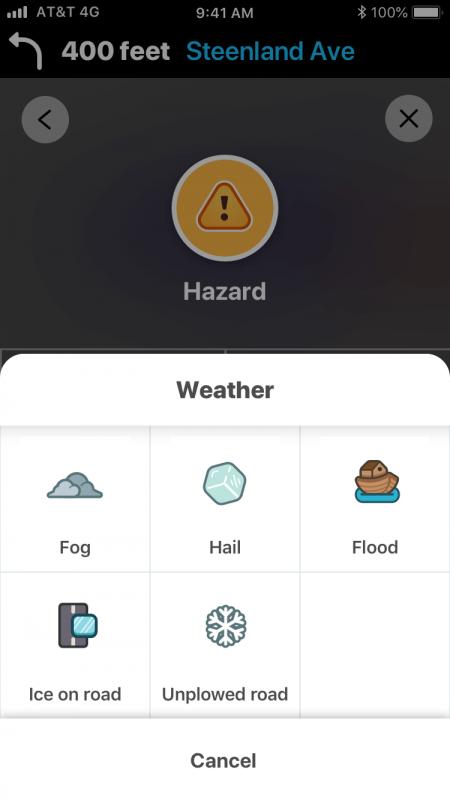 """Waze, """"Strada innevata"""" si aggiunge alle altre possibili segnalazioni meteorologiche"""