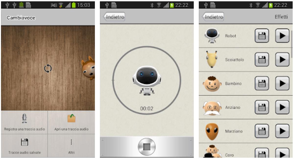 Cambiavoce, modificatore di voce a portata di app