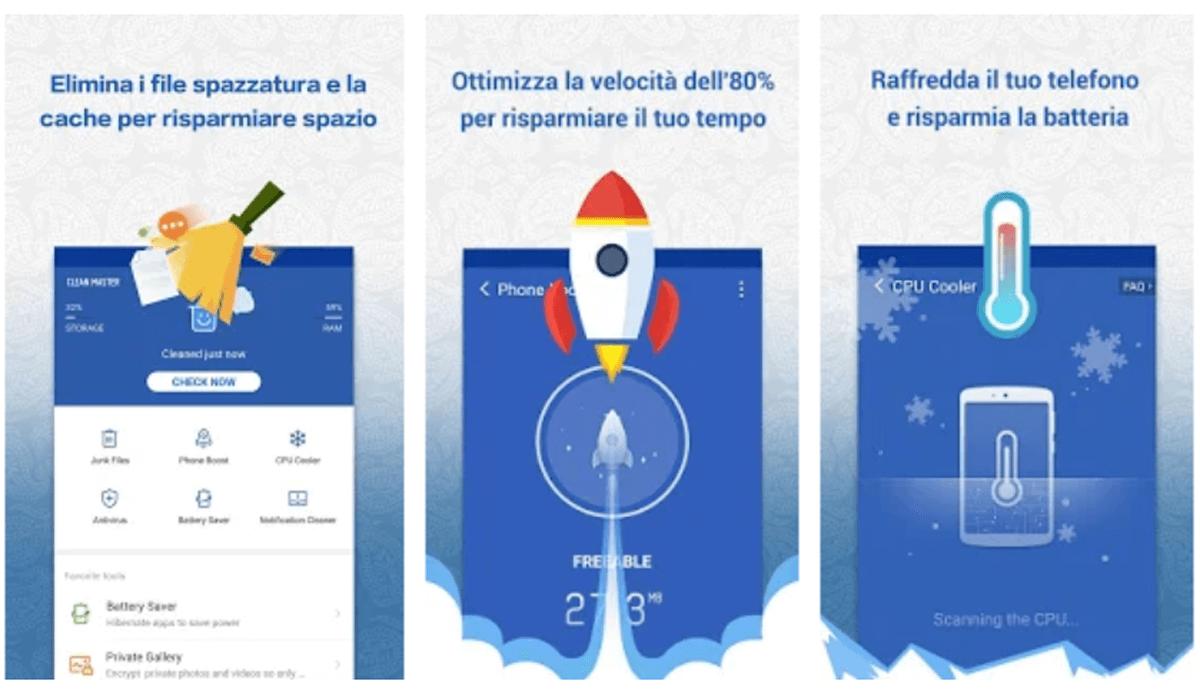 Clean Master, applicazione pulizia telefono Android