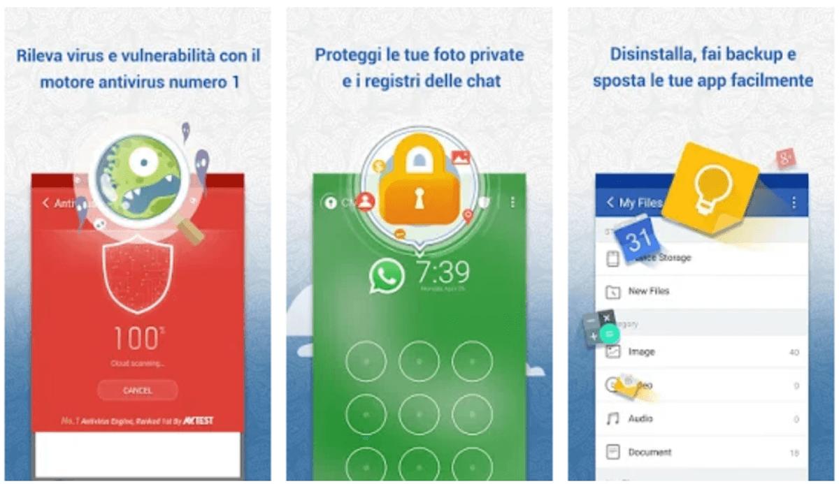 Clean Master antivirus e pulizia Android