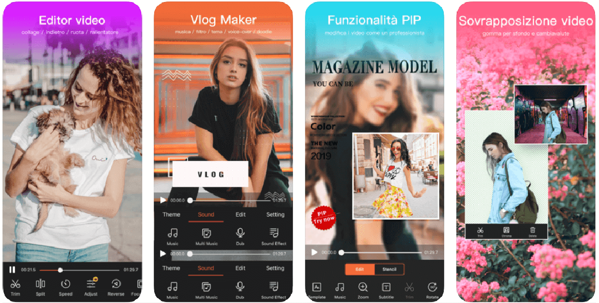 Videoshow, app per l'editing dei video