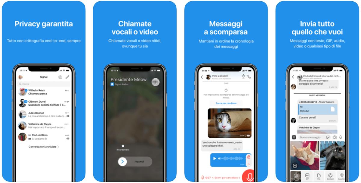 Signal, l'app di messaggistica sicura per chat e chiamate criptate