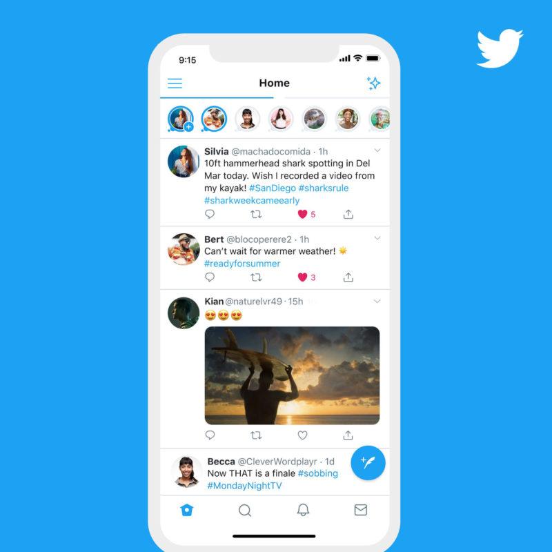 Twitter, arrivano le storie