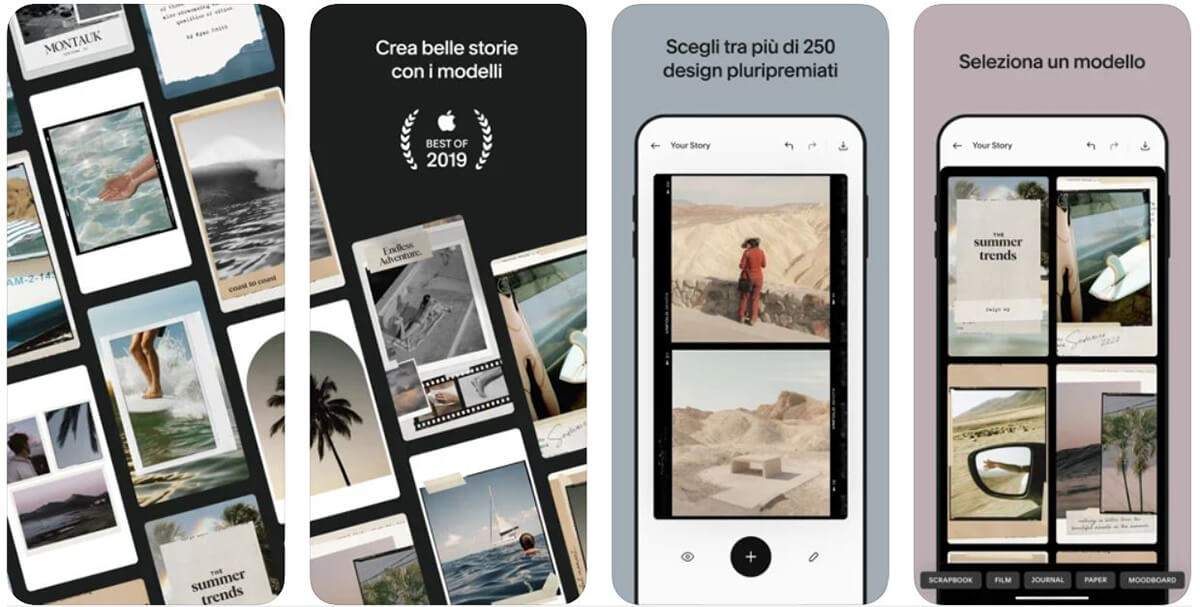 Unfold, applicazione storie instagram: strumenti a disposizione
