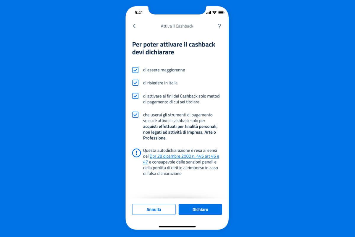 App IO cashback, come iscriversi